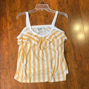 White and Yellow Striped Tank